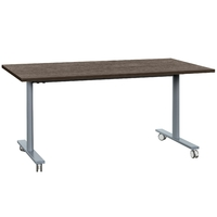 YES CHÊNE ROYAL PIEDS GRIS TABLE MOBILE ET RABATTABLE 120CM
