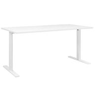 YES/XERUS BLANC TABLE DE RÉUNION PIEDS BLANCS 160CM