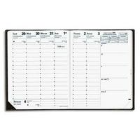 QUO VADIS Agenda Executif 13 mois déc. à déc. 1S/2P - format : 16 x 16 cm couverture PVC Impala noire