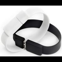 BRACELET CLÉ USB 16Gb blanc