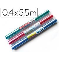 COUVRE-LIVRES PVC 0.4x5.5M COLORIS ASSORTIS