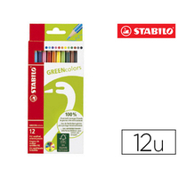 CRAYONS STABILO GREENCOLORS PACK DE 12