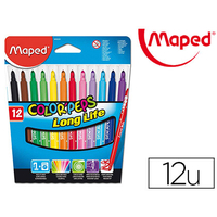 MAPED COLOR' PEPS 12 FEUTRES POINTES MOYENNES