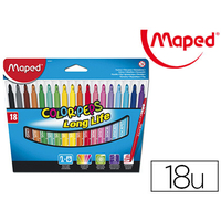 MAPED COLOR' PEPS 18 FEUTRES POINTES MOYENNES