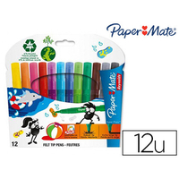 PAPERMATE SUPER PROPY 12 FEUTRES POINTES EXTRA-LARGE