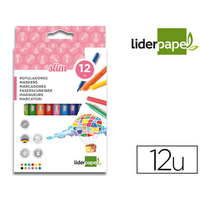 LIDERPAPEL SLIM 12 FEUTRES POINTES MOYENNES