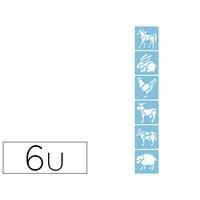 AVENUE MANDARINE ANIMAUX POCHETTE 6 POCHOIRS