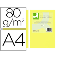 Q-CONNECT A4 JAUNE INTENSE 80G