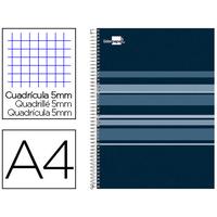LIDERPAPEL CLASSIC BLEU PETROLE A4 5x5