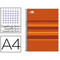 LIDERPAPEL CLASSIC ORANGE A4 5x5