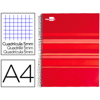 LIDERPAPEL CLASSIC ROUGE A4 5x5
