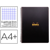 RHODIACTIVE NOTEBOOK A4+ 5x5 9 TROUS