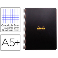 RHODIACTIVE NOTEBOOK A5+ 5x5 6 TROUS