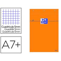 BLOC DE BUREAU ORANGE 8.5X12CM RÉGLURE 5x5