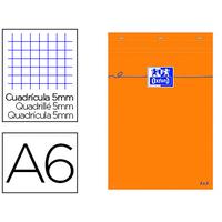 BLOC DE BUREAU ORANGE 10.5X14.8CM RÉGLURE 5x5