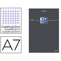 OXFORD NOIR 7.4x10.5cm RÉGLURE 5x5