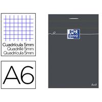 OXFORD NOIR 10,5x14,8cm RÉGLURE 5x5