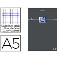 OXFORD NOIR 14,8x21cm RÉGLURE 5x5