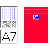 OXFORD ROUGE 7.4x10.5cm RÉGLURE 5x5