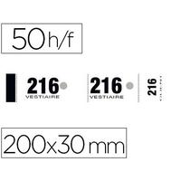 ELVE BLOC VESTIAIRE BLANC NUMÉROTE 1 A 1000 50 FEUILLES