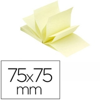 Z-NOTES JAUNE CLAIR 76X76MM
