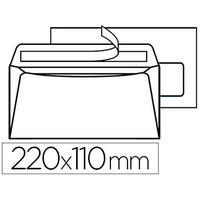 200 ENVELOPPES DL 90g ADHÉSIVES AVEC FENÊTRE 45x100mm