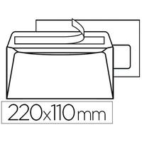 200 ENVELOPPES DL 100g ADHÉSIVES AVEC FENÊTRE 35x100mm