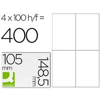 Q-CONNECT ÉTIQUETTES  COINS DROITS 105x148,5mm
