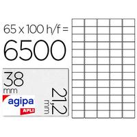 AGIPA ÉTIQUETTES  COINS DROITS 38x21.2mm