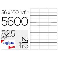 AGIPA ÉTIQUETTES  COINS DROITS 52,5x21.2mm