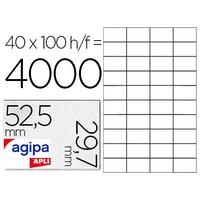 AGIPA ÉTIQUETTES  COINS DROITS 52,5x29,7mm
