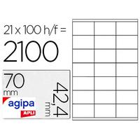 AGIPA ÉTIQUETTES  COINS DROITS 70x42,4mm