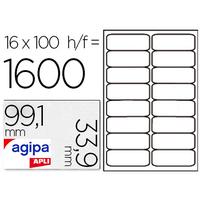 AGIPA ÉTIQUETTES COINS ARRONDIS 99,1x33,9mm
