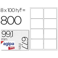 AGIPA ÉTIQUETTES COINS ARRONDIS 99,1x67,7mm