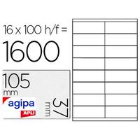 AGIPA ÉTIQUETTES  COINS DROITS 105x37mm