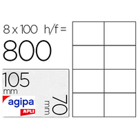 AGIPA ÉTIQUETTES  COINS DROITS 105x70mm