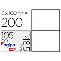 AGIPA ÉTIQUETTES  COINS DROITS 210x148,5mm