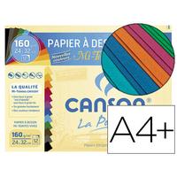 CANSON MI-TEINTES VIVES 12 FEUILLES A4+ 160g