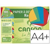 CANSON MI-TEINTES RECYCLÉES 8 FEUILLES A4+ 160g