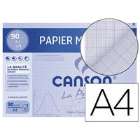 CANSON 12 FEUILLES MILLIMÉTRÉ A4 BLEU