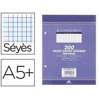 CONQUERANT A5+ PERFORÉS PACK DE 200 COPIES DOUBLES