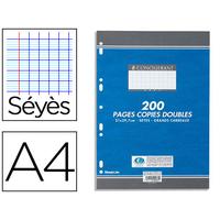 CONQUERANT A4 PERFORÉS PACK DE 200 COPIES DOUBLES