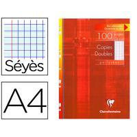 CLAIREFONTAINE A4 PERFORÉS PACK DE 100 COPIES DOUBLES