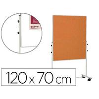 BI-OFFICE DUO BLANC/LIEGE 120x170cm