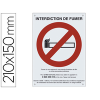 DURASIGN INTERDICTION DE FUMER 21x15cm