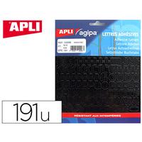 AGIPA 191 LETTRES ADHÉSIVES 12.5mm