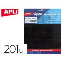 AGIPA 201 CHIFFRES ADHÉSIFS 12.5mm