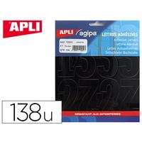AGIPA 138 CHIFFRES ADHÉSIFS 75mm