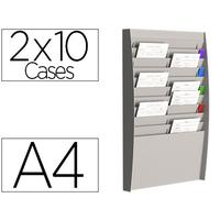 PAPERFLOW PRÉSENTOIR MURAL A4 10x2 CASES
