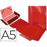 LIDERPAPEL A5 DOS FLEXIBLE ROUGE TRANSLUCIDE